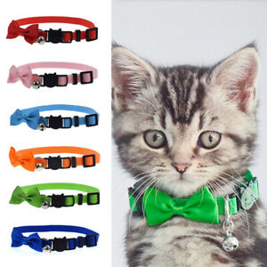 Pets Cat Kitten Cute Collar with Bell Bow Tie Adjustable Necklace Safety Buckle
