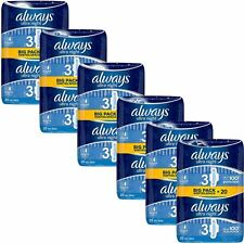 Always Ultra Night Sanitary Towels Pads Size 3 Wings Womens Absorbent - 120 Pack