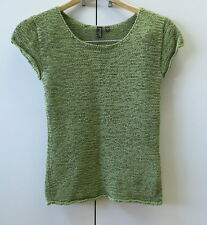 Stylish Green Cotton Knit Top from Colorado  - size S
