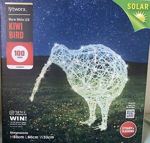 Lytworx Christmas Festive Warm white 100 LEDs Solar charge Kiwi Bird