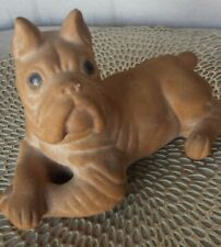 Vintage 1954  A.N. Brooks Boxer Dog Chalkware Merchandise Mart Chicago Collect