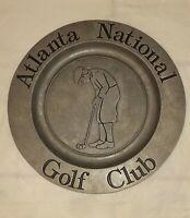 "Atlanta National Golf Club Armetale 10 3/4"" Round Platter The Wilton Co. RWP"