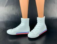 Creatable World White High Top Sneakers Blue n Red Stripes Shoes Accessory NEW