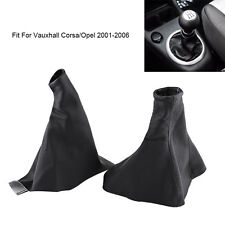 Handbrake Gear Shift Stick Gaiter Boot Dust Cover Set For Vauxhall Opel Corsa B