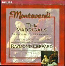 Monteverdi, The Madrigals, Raymond Leopard, Eng Chamber Orch, 8 CD set