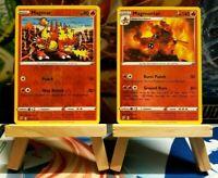 Magmar + Magmortar - Reverse Holo Rare, SS Rebel Clash, Mint/NM, Pokemon TCG