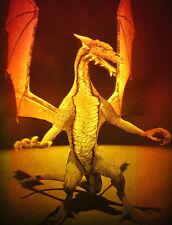 "11x16"" (28x40cm) Winged Dragon 3D - True 3d Laser hologram on Glass"