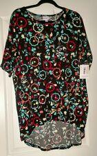 Lularoe Irma M Black w/ Teal Red cream orange pattern NWT FREE Shipping