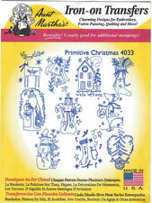 Primative Christmas 4033 Aunt Martha's Hot Iron Embroidery Transfer Pattern