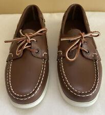 Sebago Womens 6.5 W Docksides Leather Boat Shoe Brown
