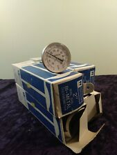 """Four~Weksler Instruments 2"""" Dial Size Bi-Metal Thermometer 9"""" Long F and C"""