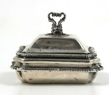 Vintage Signed PETER ACQUISTO Miniature Dollhouse Sterling Silver Covered Tureen