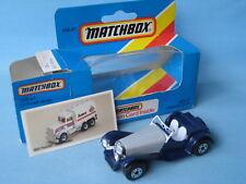 Matchbox Jaguar SS100 English Sports Car Blue Body Toy Model Car 70mm Boxed