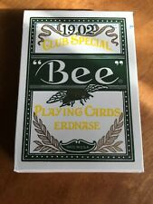 Bee Erdnase Green Acorn Back Playing Card Deck by CARC; Cambric Finish; New