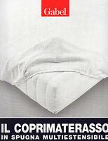 Coprimaterasso elasticizzato per materasso 1 piazza e mezza GABEL in spugna