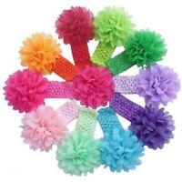 10 Colors Baby Girls Headband Flowers Elastic Wrap Soft Kids Hairband Photo