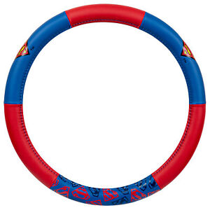DC Comics Superman Steering Wheel Cover Protector Universal Fit 14.5-15.5""