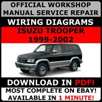# OFFICIAL WORKSHOP Service Repair MANUAL ISUZU TROOPER 1999-2002 +WIRING #