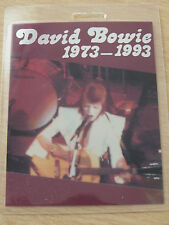 DAVID BOWIE Commemorative Pass - Not Backstage/VIP
