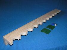 12 gun - wood closet gun rack - solid oak construction