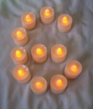 6 pcs Orange Flameless Flickering LED Candle Tea Light Party Table Decoration