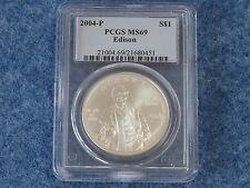 2004-P Edison Silver Dollar PCGS MS69 Gem BU B7640