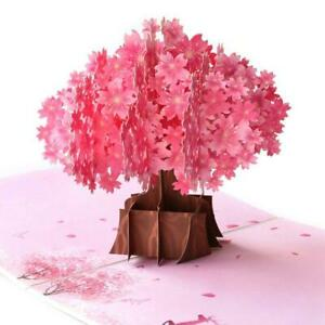 3D Up Card Birthday/Occasion/Flowers/Mother's Day Cherry Blossom DIY HO