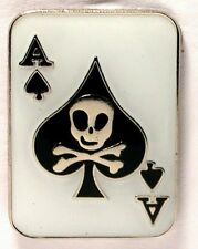 ACE of SPADES - LAPEL PIN BADGE -  BUY TWO GET ONE FREE -  GAMBLING CASINO DB-09