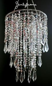 Acrylic Plastic Chandelier Silver For Party Decoration