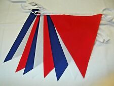 Royal Wedding Bunting  Bunting Red White Blue handmade 20ft /21 flags