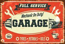 Retro Garage Full Service Beer Bar Pub Home Decor Garage Aluminum Vintage Sign