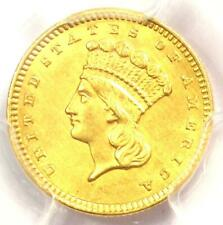 1858 Indian Gold Dollar (G$1 Coin) - PCGS Uncirculated Details (UNC MS) - Rare!