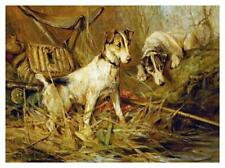 """Artworks Italia Two Smooth-Haired Fox Terriers-Paper Art-42""""x31.28"""""""