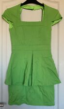 Forever Unique Lime Green Peplum Stretch Dress - BNWOT - Size 8