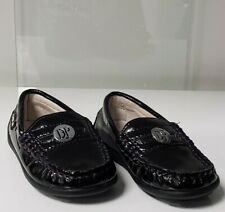 Nib New Donald Pliner baby boys purple patent loafers shoes buckle 19 Us 3.5
