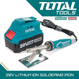Cordless Soldering Iron 20v - Lightweight Quick Heating - Battery & Charger Inc