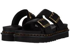 Men's Shoes Dr. Martens MYLES II Leather Buckle Slide Sandals 25559001 BLACK