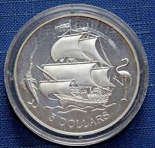 1993 The Bahamas Coin 5 Dollars Boats History Silver (.925) KM# 170 Rare