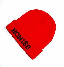 HOMIES Women's Beanie RED BLACK Urban Stylish from BLTEE Made in USA One size