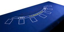 "Casino Blackjack Blue Gaming Table Felt Layout 72"" x 36"" Brand New"
