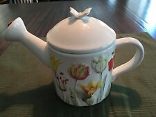 Hallmark Nature's Sketchbook Teapot-Tulips w/Bees, Ladybug-Mint-Free Shipping