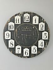 VINTAGE Shabby Chic Style Wall CLOCK Kitchen Clock wooden Large wooden 60cm