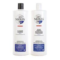 Nioxin System 6 Cleanser Shampoo & Scalp Revitaliser Conditioner 1 Litre Duo