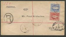 """VIRGIN IS.1ST AUG 1900 REG ENVELOPE  TO GERMANY CANCELLED """"A91"""" LONDON TRANSIT"""