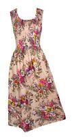 100% Cotton Long Boho Maxi Dress Party Evening Size 14 16 18 20 22 24 May19