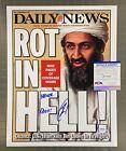 Navy SEAL Robert O'Neill Killed Bin Laden Daily News Print Signed 11x14 PSA