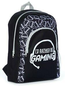 I'd Rather Be Gaming  School Bag, Kids  Boys Gamer Backpack