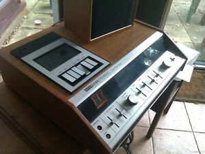 Vintage 1975 DECCA Sound DS9000 stereo cassette system with speakers