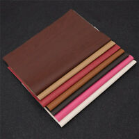 A4 Synthetic Faux PU Leather Fabric Wood Grain Pattern Craft Material Garments