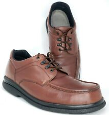 Red Wing Mens sz 14 D Brown Oxford 6659 Oil Resistant Leather Steel Moc Toe Work